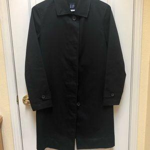 GAP XS Black Lightweight Button-Down Coat